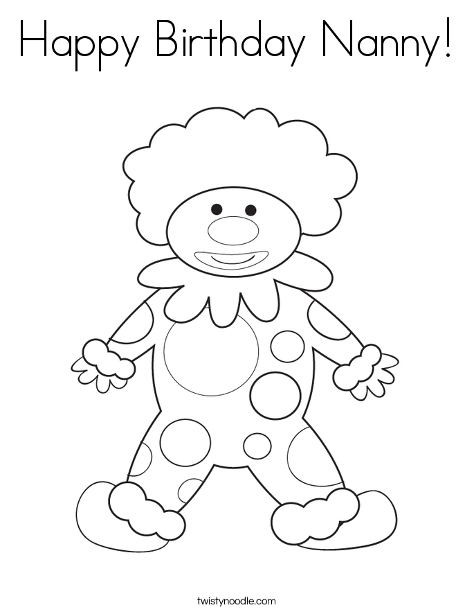 happy birthday nanny coloring page twisty noodle i