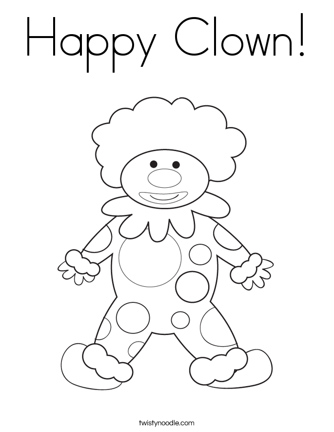 Happy Clown! Coloring Page