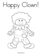 Happy Clown Coloring Page