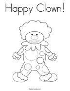 Happy Clown Coloring Page