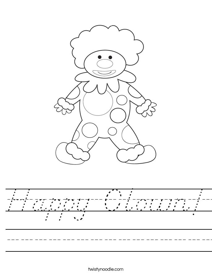 Happy Clown! Worksheet
