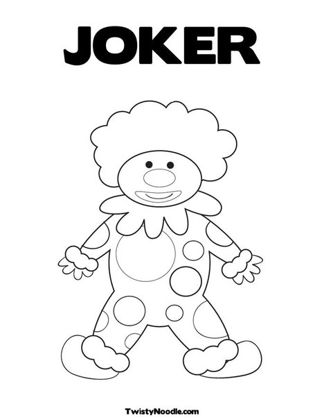 Joker mask coloring pages for Joker mask template