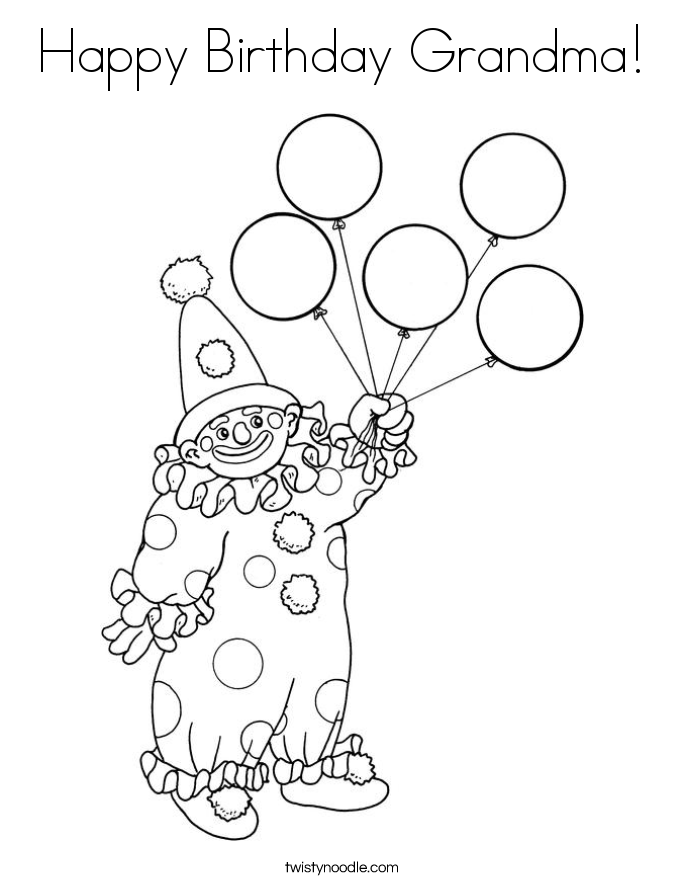free birthday coloring pages grandmother - photo#24