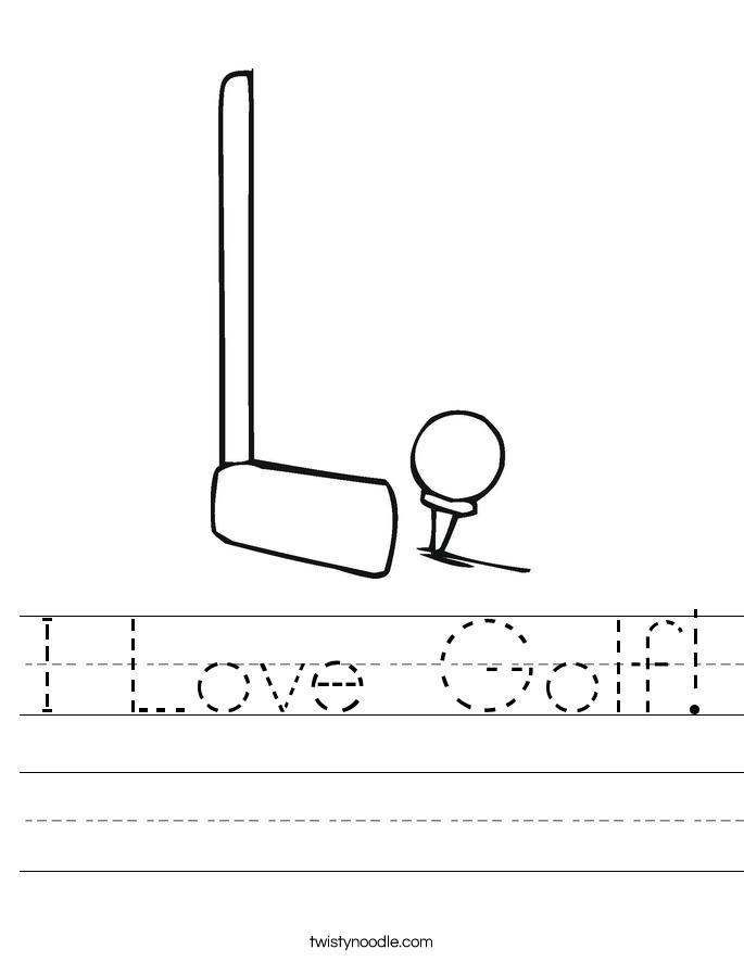 I Love Golf! Worksheet