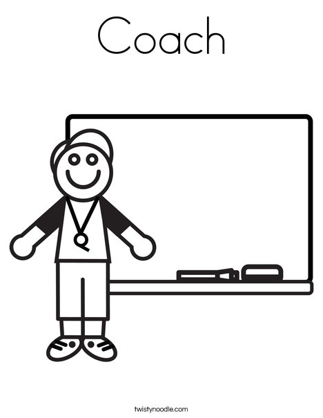 Coach Coloring Page