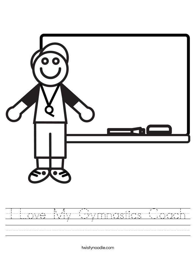 I Love My Gymnastics Coach Worksheet