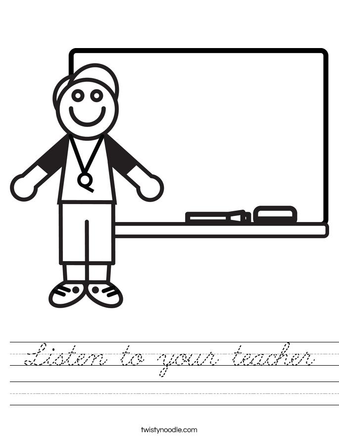 Listen to your teacher Worksheet