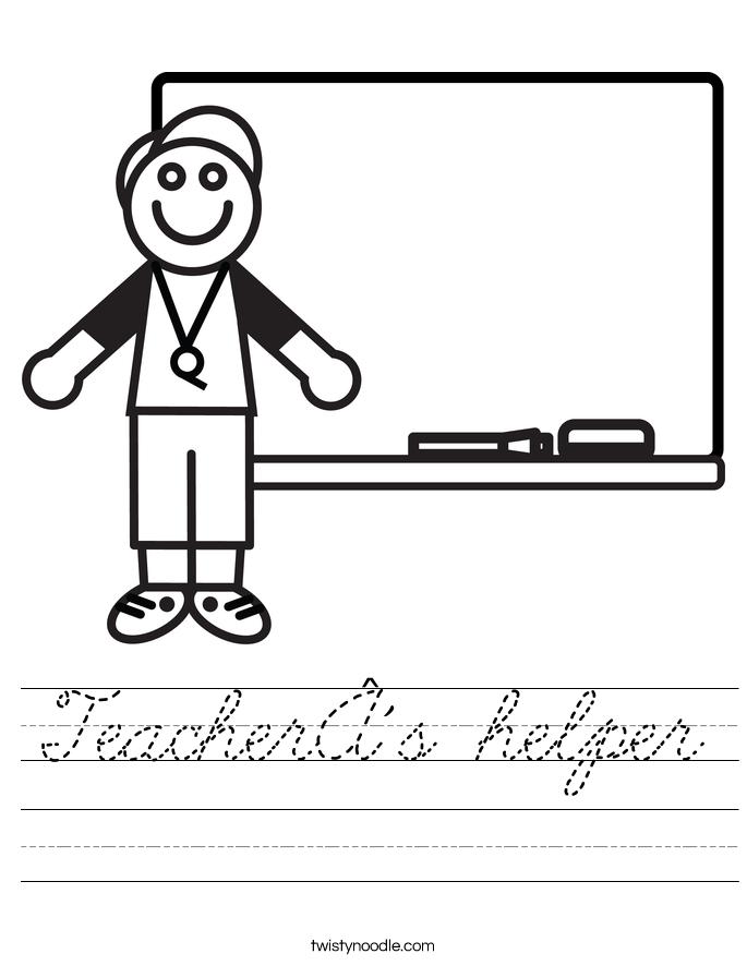 Teacher´s helper Worksheet