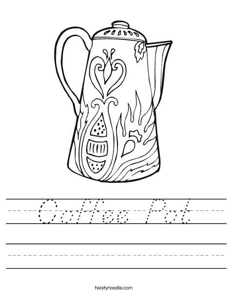 Coffee Pot Worksheet