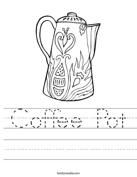 Coffee Pot Worksheet