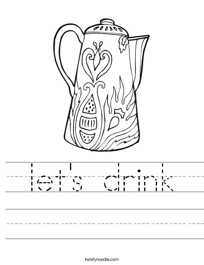 let's drink Worksheet