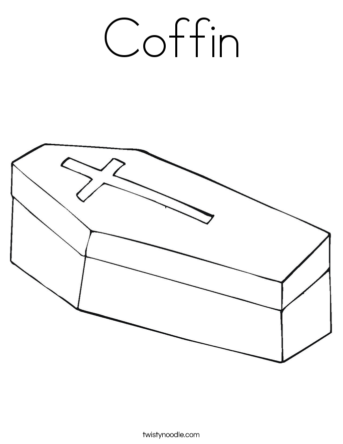 Coffin Coloring Page