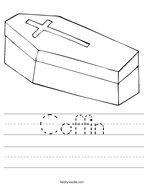 Coffin Handwriting Sheet