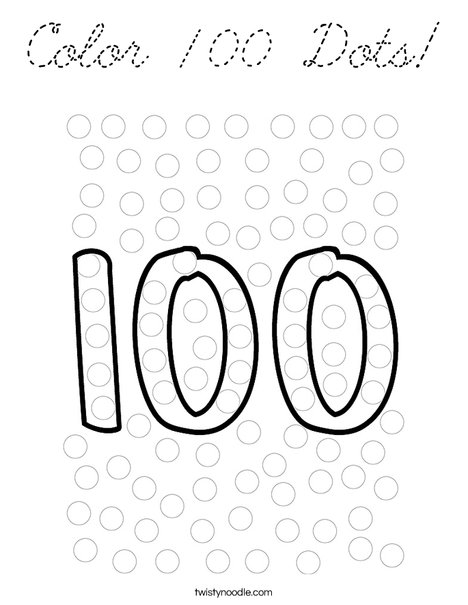 Color 100 Dots! Coloring Page