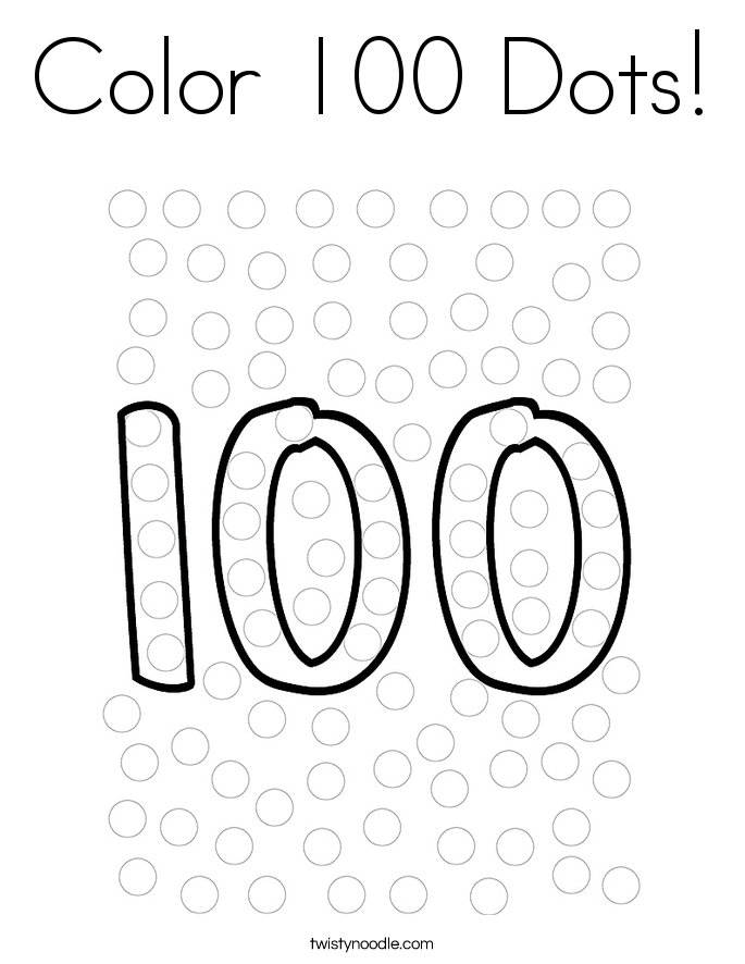 100 Chart Coloring Pages
