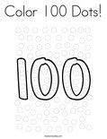 Color 100 Dots! Coloring Page
