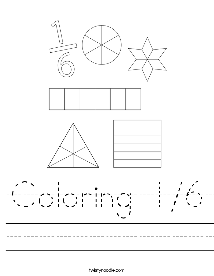 Coloring 1/6 Worksheet