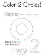Color 2 Circles Coloring Page