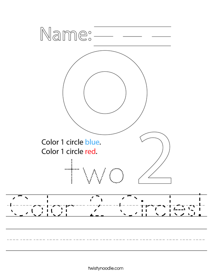 Color 2 Circles! Worksheet