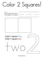 Color 2 Squares Coloring Page