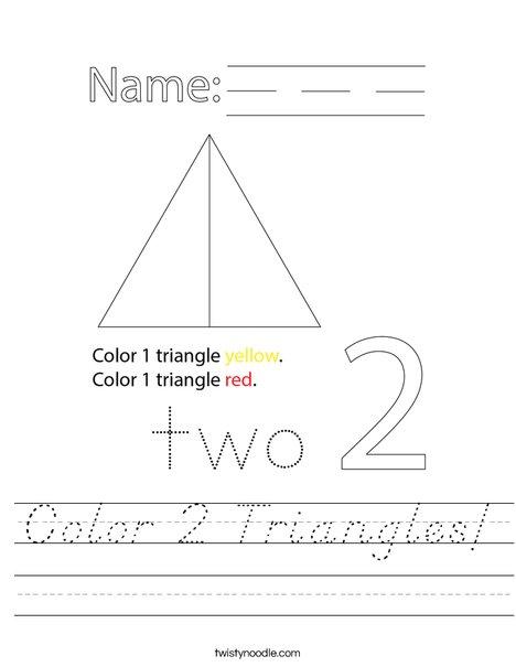 Color 2 Triangles! Worksheet