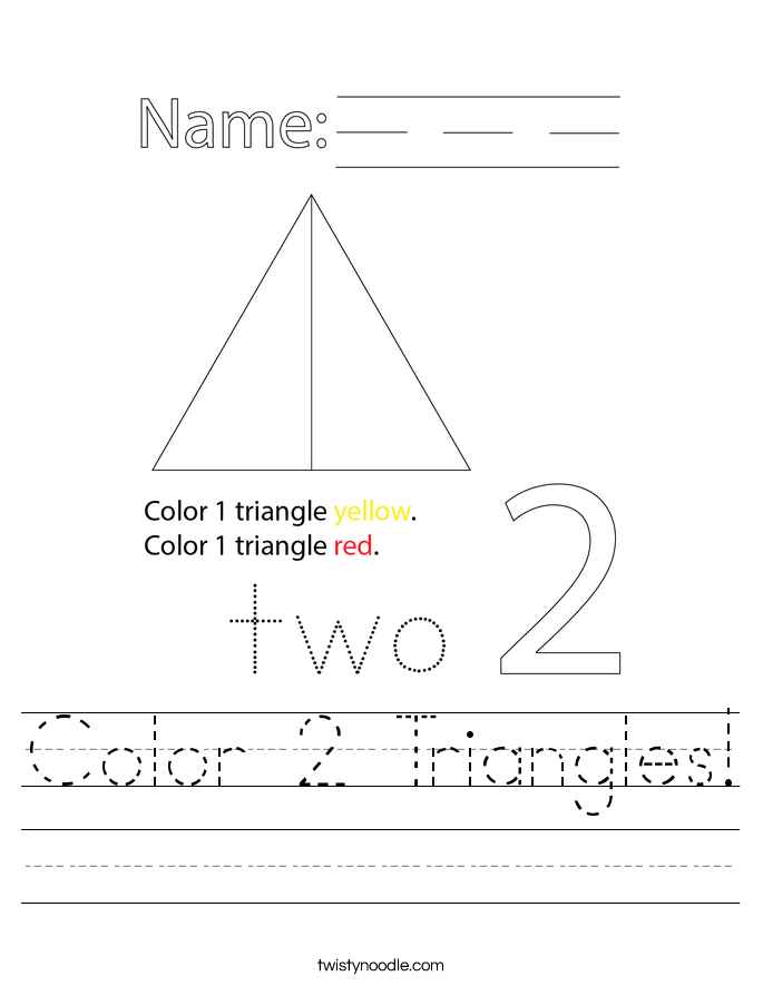 Color 2 Triangles! Worksheet