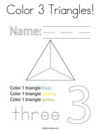 Color 3 Triangles Coloring Page