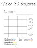 Color 30 Squares Coloring Page