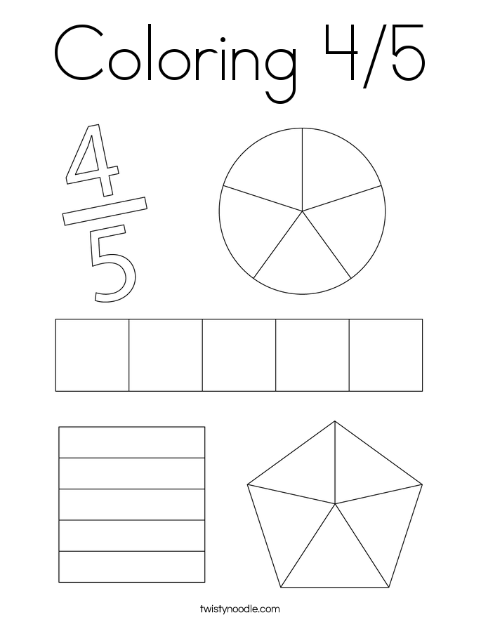 Coloring 4/5 Coloring Page