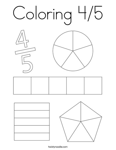 Color 4/5 Coloring Page