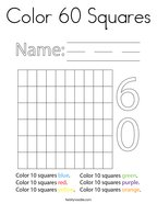 Color 60 Squares Coloring Page