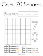Color 70 Squares Coloring Page