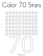 Color 70 Stars Coloring Page