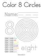 Color 8 Circles Coloring Page