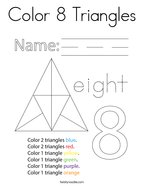 Color 8 Triangles Coloring Page