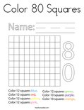 Color 80 Squares Coloring Page