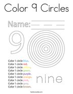 Color 9 Circles Coloring Page
