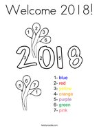 Welcome 2018 Coloring Page