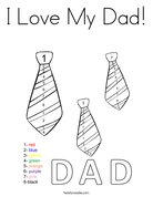I Love My Dad! Coloring Page