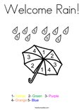 Welcome Rain! Coloring Page