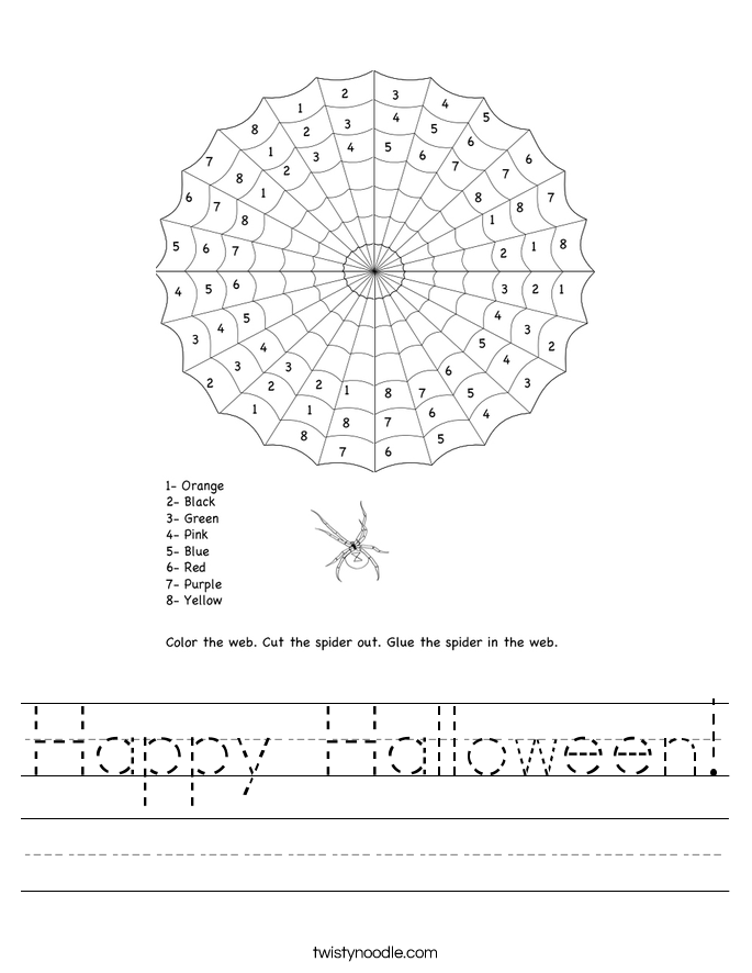 Happy Halloween! Worksheet