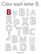 Color each letter B Coloring Page