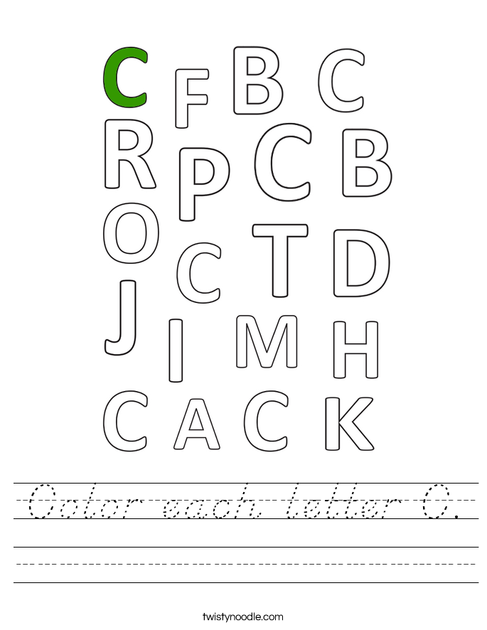 Color each letter C. Worksheet