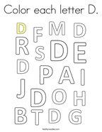 Color each letter D Coloring Page