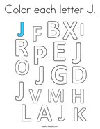 Color each letter J Coloring Page