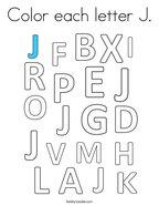 Color each letter J Coloring Page