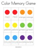 Color Memory Game Coloring Page
