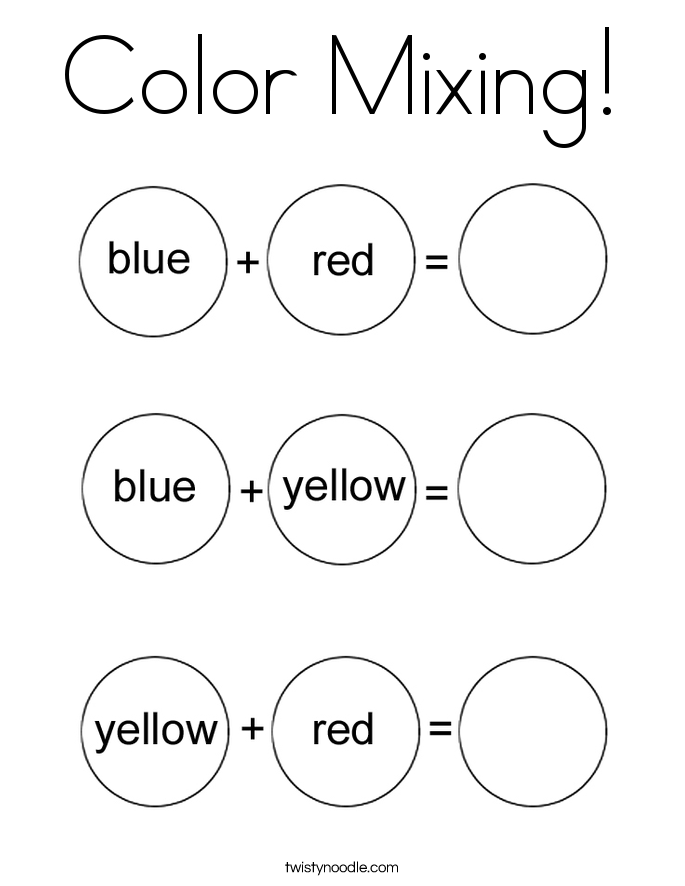 Color Mixing! Coloring Page