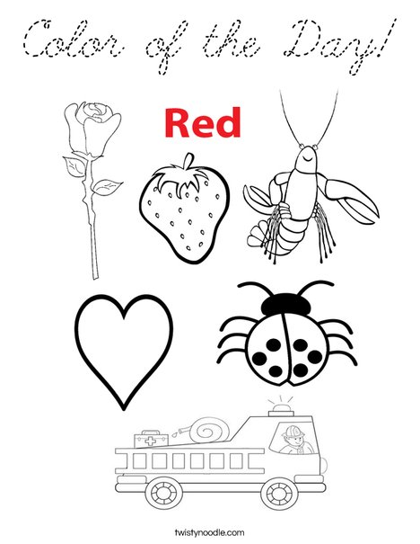 Color of the Day Coloring Page