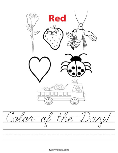 Color of the Day Worksheet